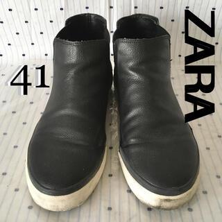 ザラ(ZARA)のZARAザラ限定サイドゴアスリップオンUK41  26.5cm(スニーカー)