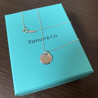 Tiffany & Co. - Tiffany ティファニー シルバー ネックレス イニシャルディスクチャーム