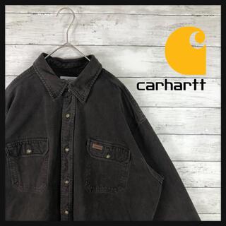 carhartt - 80.sタグカーハート ポケットレザー加工 最良カラーダークブラウン