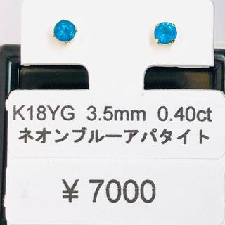 E-59871 K18YG ピアス ネオンブルーアパタイト AANI アニ
