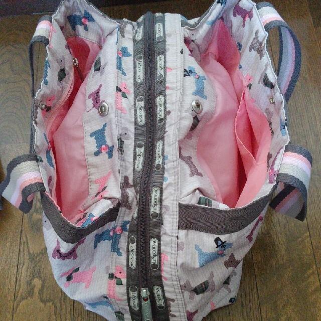LeSportsac(レスポートサック)のLeSportsac テリア犬柄2個セット トートバッグ ショルダーバッグ  レディースのバッグ(ショルダーバッグ)の商品写真