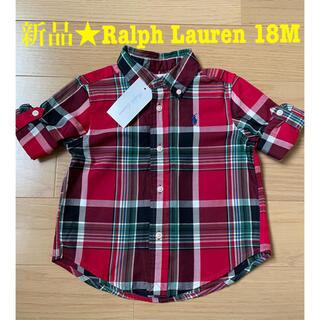 Ralph Lauren - 新品 Ralph Lauren ラルフローレン★チェックシャツ 18M レッド