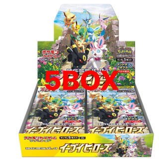 ポケモン - ポケモンイーブイイーブイヒーローズ 5boxセット 5ボックス セット販売