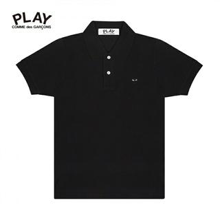 コムデギャルソン(COMME des GARCONS)のコムデギャルソン✨COMME des GARCONS 黒×黒 ハートポロシャツS(ポロシャツ)