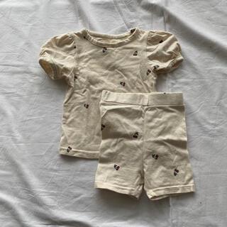 パジャマ ルームウェア ikii 韓国子供服 XS 半袖 さくらんぼ チェリー(パジャマ)