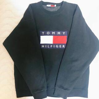 トミーヒルフィガー(TOMMY HILFIGER)のトミーヒルフィガー トレーナー 黒 お勧めです 値下げいたしました(スウェット)