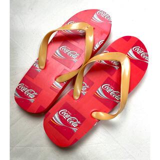 コカコーラ(コカ・コーラ)の非売品 コカコーラ ビーチサンダル コカコーラ袋付き(ビーチサンダル)