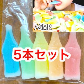 【最安値!早い者勝ち】韓国ASMRで大人気!ワックスボトルキャンディ 5本セット(菓子/デザート)