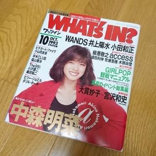 ワッツイン 1993年10月 中森明菜 WANDS 小田和正