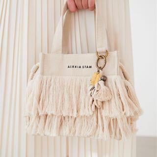 ALEXIA STAM - ALEXASTAM  Fringe Small Tote Bag Ivory