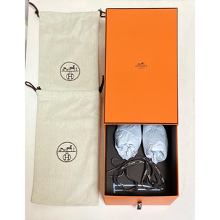 Hermes - エルメス 巾着 袋 靴 リボン ボックス 箱