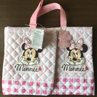 ディズニー(Disney)のミニー レッスンバッグとシューズバッグのセット(レッスンバッグ)