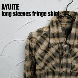 AYUITE - AYUITE/アユイテ 長袖 フリンジ チェック シャツ