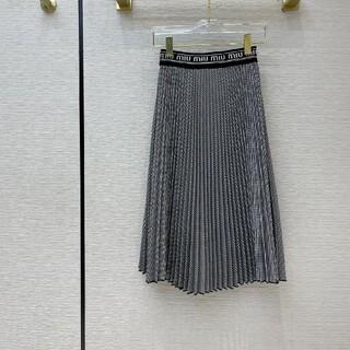 miumiu - エレガント ミュウミュウ ロングスカート ロゴ