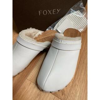 フォクシー(FOXEY)のレザーサボ White(サンダル)