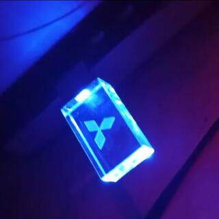 三菱 - 青 32GB 三菱  ロゴ入り USB クリスタル メモリ