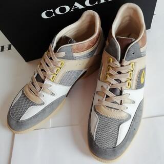 COACH - 正規店購入 コーチ シグネチャー レザー スニーカー サイズ有り 新品、箱付き