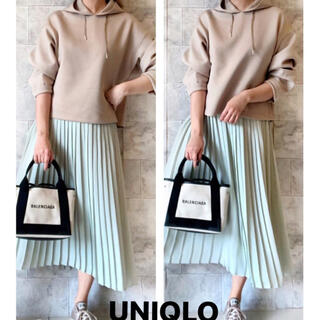 UNIQLO - ユニクロ シフォンプリーツスカート ミント