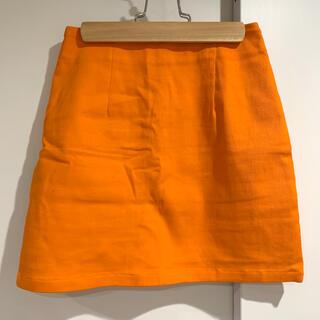 スピンズ(SPINNS)のSPINNS スピンズ 台形スカート タイトスカート(オレンジ)(ミニスカート)