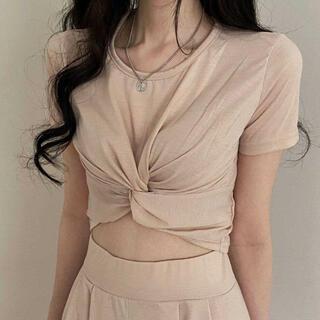 スタイルナンダ(STYLENANDA)の【予約商品】《3カラー》トレーニング ねじれ 上下セット 韓国ファッション(セット/コーデ)