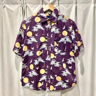 TAKEO KIKUCHI - 美品 Mサイズ タケオキクチ アロハシャツ 総柄シャツ 和柄 和風 ワールド