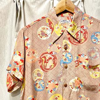 トウヨウエンタープライズ(東洋エンタープライズ)の値下 Sサイズ アロハシャツ サンサーフ ハワイアン 中華 東洋エンタープライズ(シャツ)