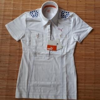 プーマ(PUMA)の【新品未使用】プーマポロシャツ★ホワイト★サイズS(ポロシャツ)
