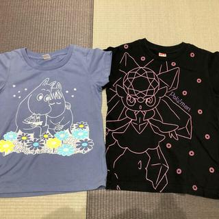 ユニクロ(UNIQLO)の【9月末まで】UNIQLO  ムーミン ポケモン Tシャツ2枚 110cm(Tシャツ/カットソー)