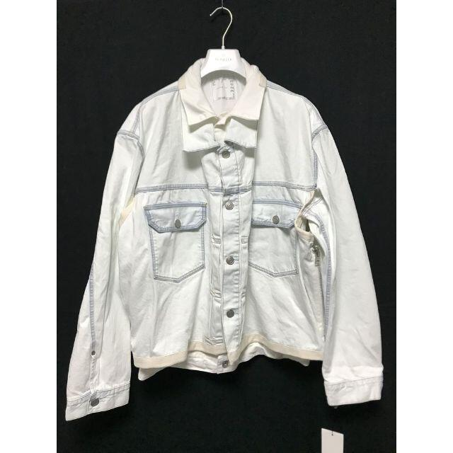 sacai(サカイ)のSACAI 20SS レイヤードデニムジャケット 白 3 メンズのジャケット/アウター(Gジャン/デニムジャケット)の商品写真