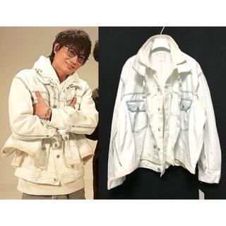 sacai - SACAI 20SS レイヤードデニムジャケット 白 3