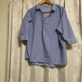 アズールバイマウジー(AZUL by moussy)のAZUL BY MOUSSY ストライプシャツ(シャツ/ブラウス(長袖/七分))