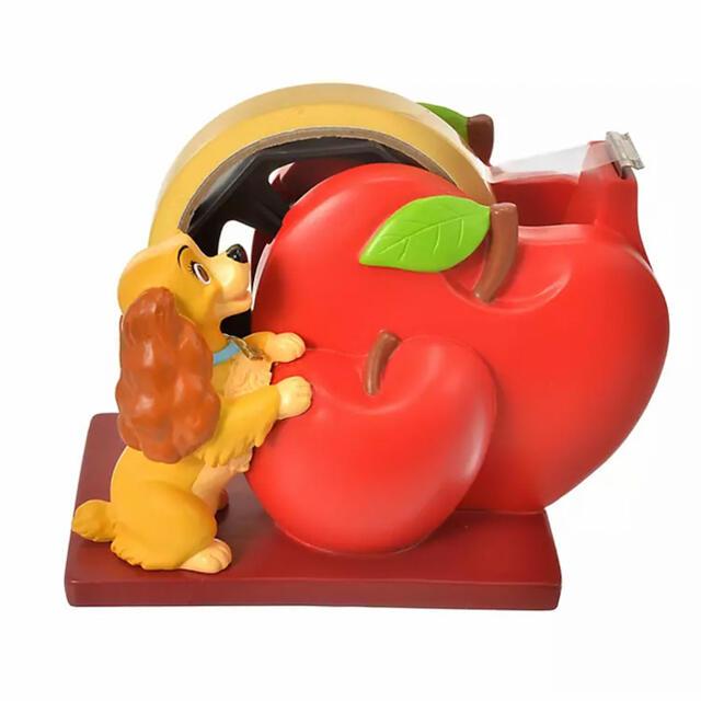 Disney(ディズニー)の<新品>レディ テープディスペンサー りんご わんわん物語 テープカッター エンタメ/ホビーのおもちゃ/ぬいぐるみ(キャラクターグッズ)の商品写真