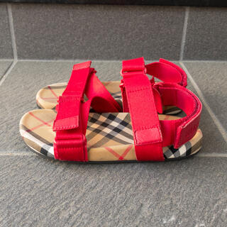 BURBERRY - 美品【Burberry キッズ】ヴィンテージチェックコットン サンダル 19cm