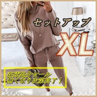 4980→1800レディース オシャレ セットアップ ピンク  XLサイズ