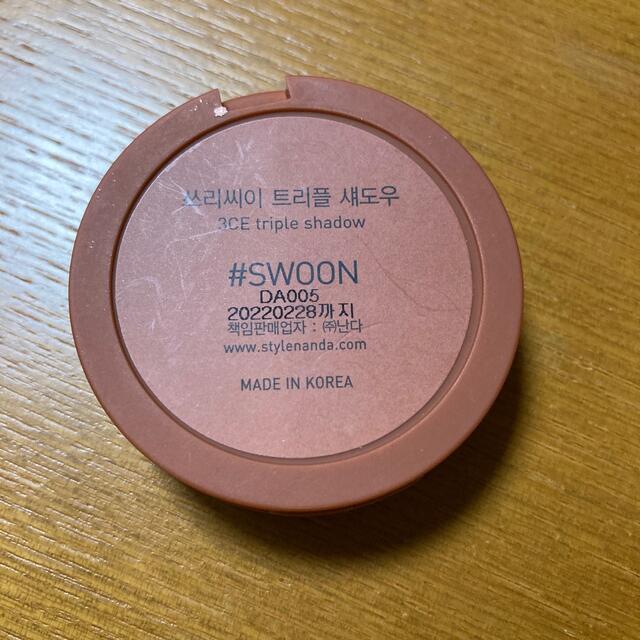 3ce(スリーシーイー)の3ce トリプル アイシャドウ  コスメ/美容のベースメイク/化粧品(アイシャドウ)の商品写真