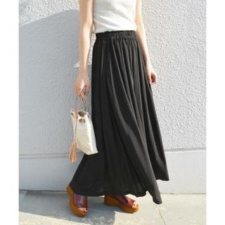 シップスフォーウィメン(SHIPS for women)のSHIPS khaju リラックスマキシスカート ブラック(ロングスカート)