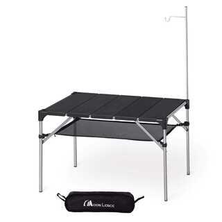 アルミ ロールテーブル ランタンハンガー付き(アウトドアテーブル)