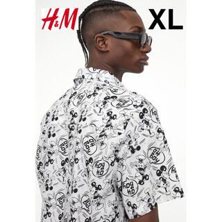 エイチアンドエム(H&M)の新品 安値 H&M × ミッキー Disney オーバーサイズ 半袖シャツ XL(シャツ)
