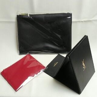 Yves Saint Laurent Beaute - ✳新品未使用✳YSLノベルティポーチ(2種類)&ミラーセット
