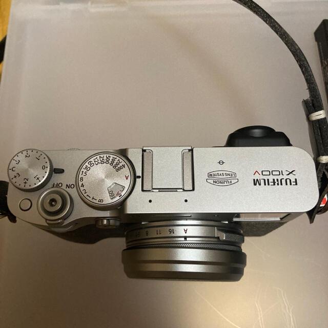 富士フイルム(フジフイルム)の【専用】FUJIFILM X100V(シルバー)  セット スマホ/家電/カメラのカメラ(コンパクトデジタルカメラ)の商品写真