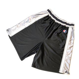 チャンピオン(Champion)の古着 90s NBA ユニフォーム バスケ ゲームシャツ ショーツ バスパン 黒(ショートパンツ)