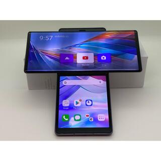 エルジーエレクトロニクス(LG Electronics)の(835) LG Wing 128GB グレイ 海外 SIMフリー 十字スマホ(スマートフォン本体)