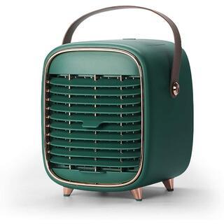 グリーン 冷風機 卓上冷風機 冷風扇 冷風扇ミニ ミニクーラー USB充電式(エアコン)