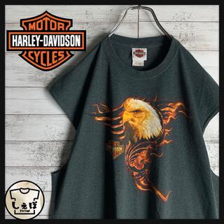 Harley Davidson - 【希少デザイン】ハーレーダビッドソン☆ビッグロゴタンクトップ ファイヤーパターン
