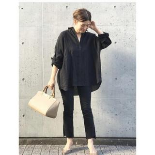 DEUXIEME CLASSE - ドゥーズィエムワイドリネンシャツブラック美品