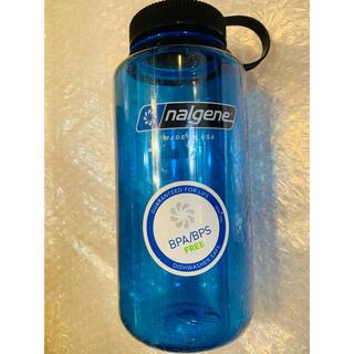 ナルゲン(Nalgene)のナルゲン ワイドマウスボトル 1ℓ ブルー 新品未使用(登山用品)