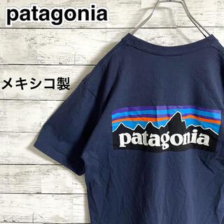 patagonia - 【超人気】パタゴニア☆バックビッグロゴ ネイビー 半袖Tシャツ メキシコ製