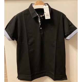 BURBERRY BLACK LABEL - 新品未使用 ブラックレーベルクレストブリッジ ブラック 半袖ポロシャツ サイズ4