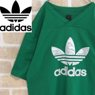 adidas - adidas アディダス Tシャツ 半袖 メッシュ トレフォイル デカロゴ