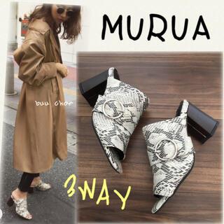 MURUA - MURUA♡3WAYストラップサボサンダル
